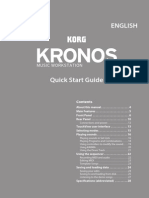 Korg KRONOS, KRONOS X, and KRONOS 2 Quick Start guide E7copy