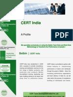Cert India - a Profile - 2013 - V5