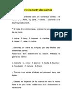 6° Conte - vocabulaire de la forêt