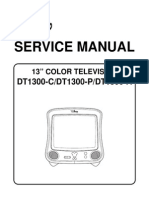 DISNEY DT1300C - M37281MAH-066SP , M61206FP-61 , LA78040A - TV SM