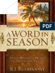 A Word in Season Vol. 6 - R. J. Rushdoony
