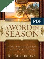 Word in Season Vol. 6 - R. J. Rushdoony