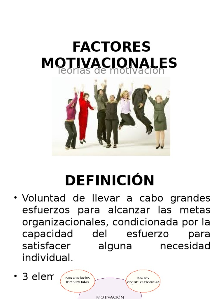 Factores Motivacionalesmmm
