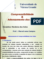 Aula 09 - Compressibilidade e Adensamento