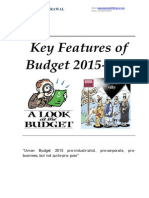 Budget Summary for FY 2015-16