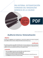 Auditorias- Sistematización
