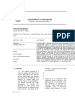 Gabriel Synthesis Journal report