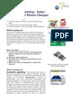 Esta Lampkin Version Demo_Template Solar Phone Charger