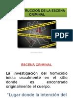 Reconstruccion de La Escena Criminal