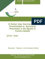 UFCD-7206 - O Setor Dos Serviços de Proximidade - Serviços Pessoais e de Apoio à Comunidade