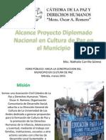 Alcance Diplomado Cultura de Paz en Los Municipios Libertador y Snatos Marquina