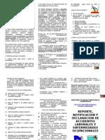 Triptico de Reporte y Notificacion de Accidentes y Lesiones