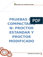 Pruebas Proctor Estandar y Modificado