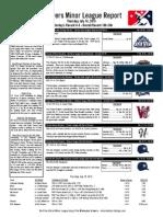 Minor League Report 15.07.16
