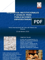 Requisitos Institucionales y Legales Para Publicaciones Universitarias