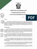 Resolución N°091-2015-COSUSINEACE-CDAH-P