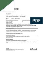 M1 Specimen Paper and Mark Scheme