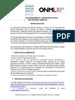 SEMINARIO DE ENTRENAMIENTO Y MARKETING POLÍTICO PARA MUJERES LIBERALES