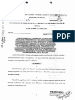 Young Money + Lil Wayne v. Cash Money - La. state complaint.pdf