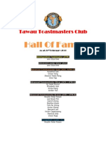 Tawau Toastmasters Club Hall of Fame