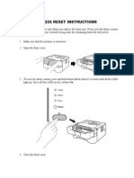 Dr2225 Reset Instructions