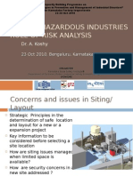 Role of Risk Analysis in Siting of Hazardous Industries s