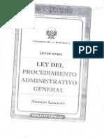 Ley de Procedimiento Administrativo General