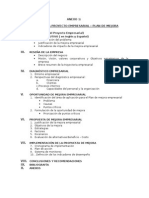 Esquema Del Plan de Mejora -Plan de Negocio 2015