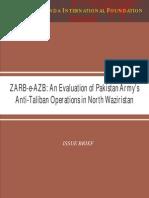 Zarb e Azb an Evaluation of Pakistan Army s Anti Taliban Operations in North Waziristan