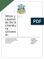 Mitos y Leyendas de La Literatura Universal