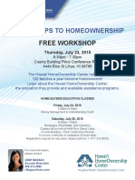 Homeownership Workshop on Kauai, July 2015