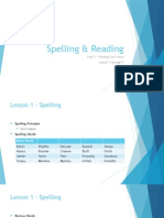 spelling and reading - lesson 1 to 5