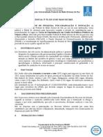 Edital Genero e Raca Alunos 2015.