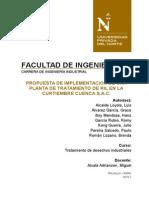 Tratamiento de Desechos Industriales-Curtiembre Cuenca