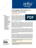 Exchanging Information to Combat Tax Evasion