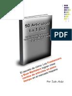 Como Crear 50 Articulos en Un Dia