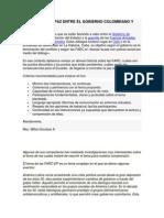 El Tratado de Paz Entre El Gobierno Colombiano y Las Farc