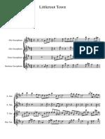 Pokemon- Littleroot Town for Sax Quartet