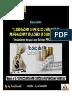 Módulo 3 - Estructuracion de Costos de Perforacion y Voladura (03-Feb-15)