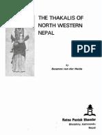 1988 Thakalis of North Western Nepal by Von Der Heide s