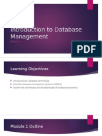 01 - Introduction to Database Management