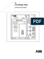 SPAU-110-C ABB Residual Overvoltage Realy