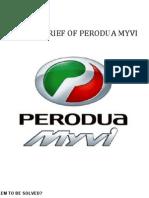Creative Brief for Perodua Myvi