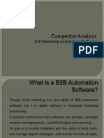 B2B Marketing Automation Platforms competitor analysis, (Resulticks)