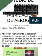 Estudio de Las Materias Primas Fabricacion de Aerogel