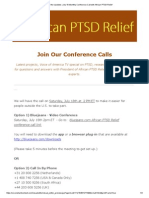 get the updates  july 18 monthly conference call with african ptsd relief