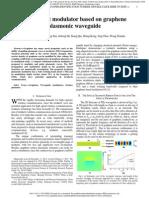 JP_PTL_A Terahertz Modulator Based on Graphene Plasmonic Waveguide