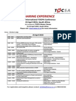 16 TOCPA_SA_Conference and Master Classes program & write up_21-23 April 2015