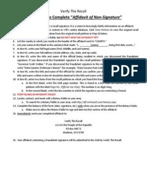 Affidavit of Non-Signature | Notary Public | Affidavit