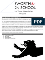 Newsletter End of Summer Term